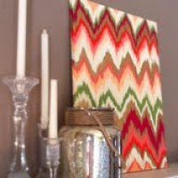 DIY Ikat Painting